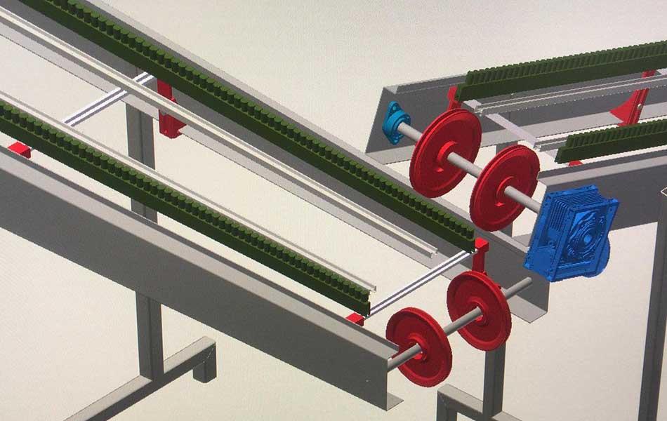 ricostruzione su disegno di impianti industriali